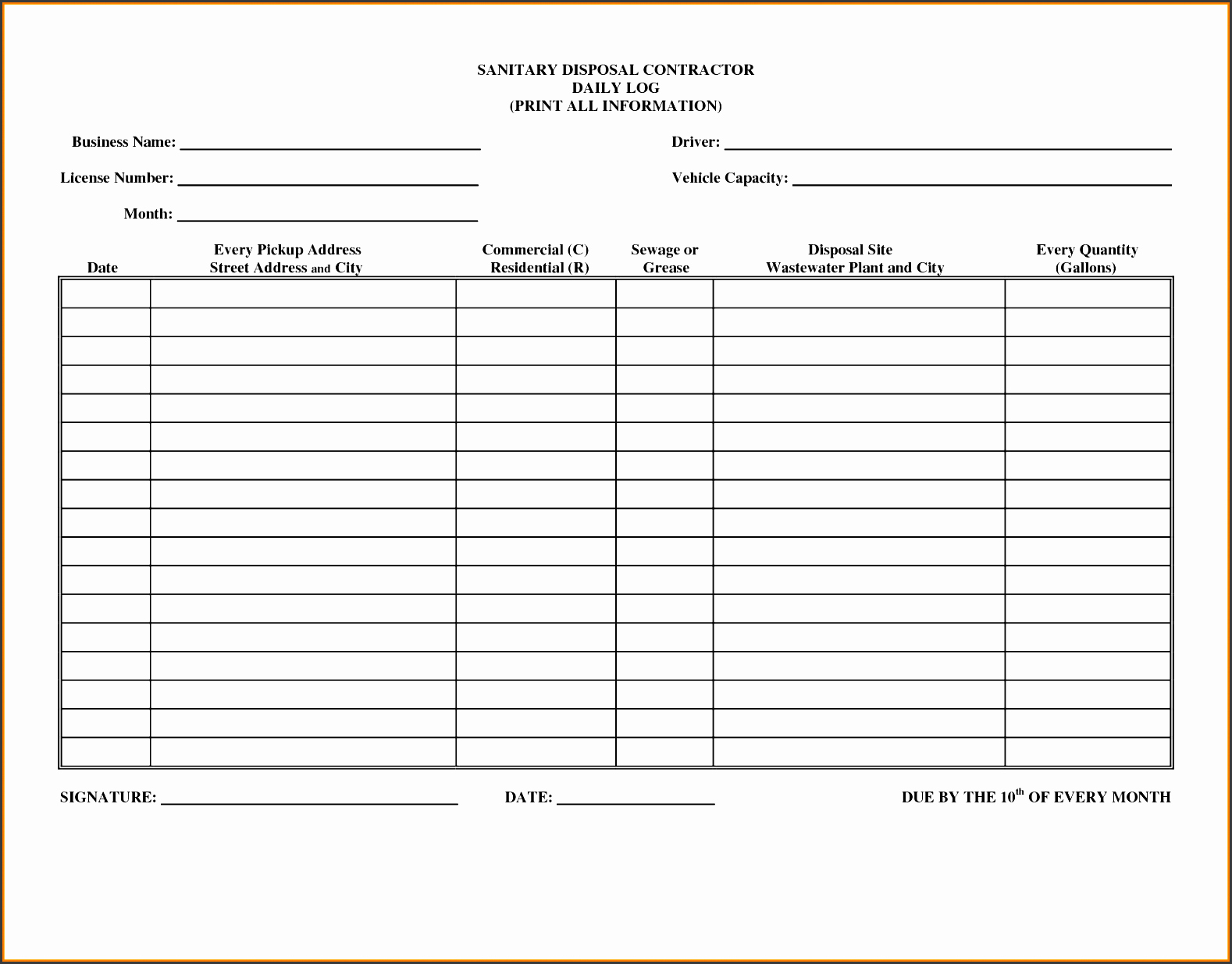 Work Log Sheet Template Excel Beautiful 9 Editable Daily Work Log Template Sampletemplatess