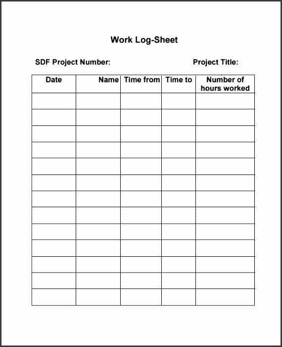 Work Log Sheet Template Excel Fresh 10 Pany Work Log Template Sampletemplatess