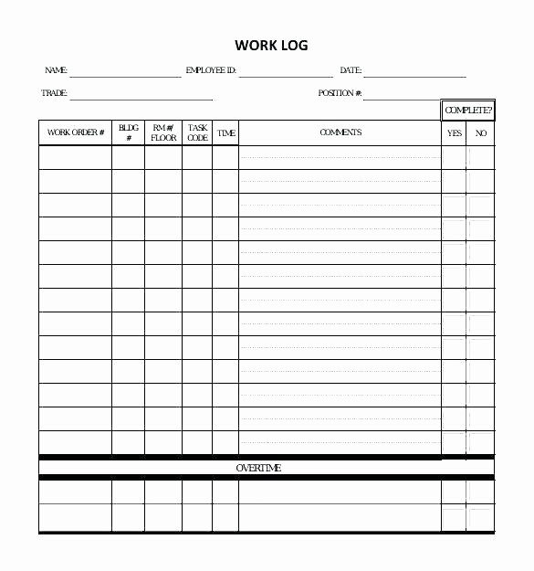 Work Log Sheet Template Excel Luxury Work Log Excel Template Sheet Mileage Tracker Project