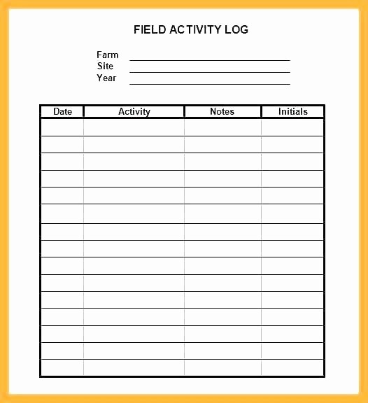Work Log Sheet Template Excel New Sign Work Activity Log Sheet Sample Daily format Record