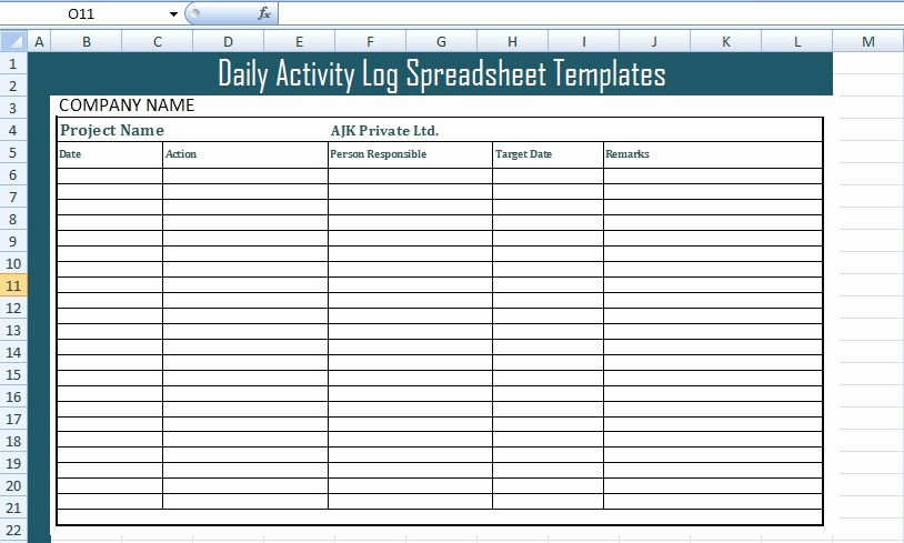Work Log Sheet Template Excel Unique Get Daily Activity Log Spreadsheet Templates Free Excel
