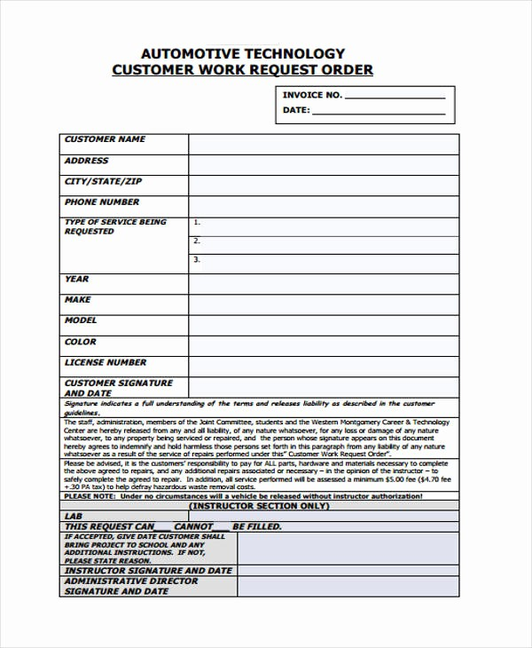 Work order Templates for Word Beautiful 10 Work order Templates Pdf Apple Pages