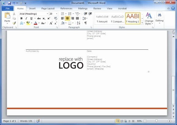 Work order Templates for Word Beautiful Free Work order Template for Word