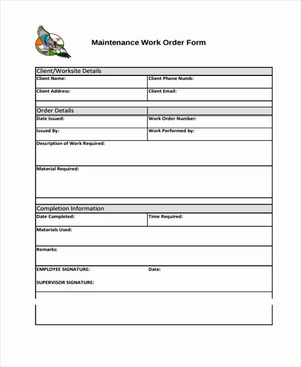Work order Templates for Word Best Of 10 Work order Templates Pdf Apple Pages