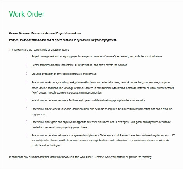 Work order Templates for Word Best Of 11 Microsoft Word 2010 Free order Templates Download