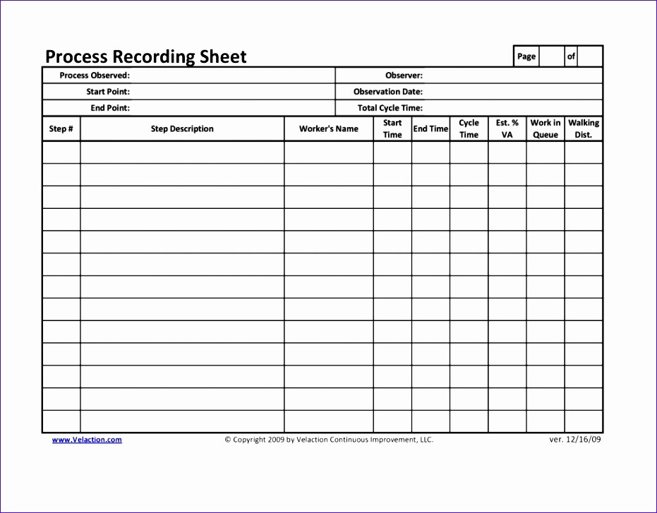 Work Time Study Template Excel Elegant 7 Time and Motion Study Template Excel Exceltemplates