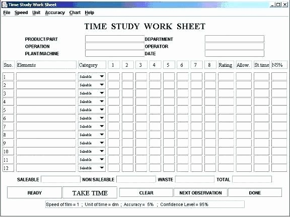 Work Time Study Template Excel Elegant Time Motion Study Excel Template Download and Nice Work