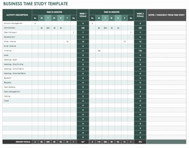 Work Time Study Template Excel Inspirational Time Study Template Excel Free Download 20 High