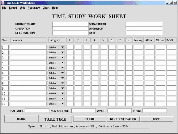 Work Time Study Template Excel Luxury Time Study Template