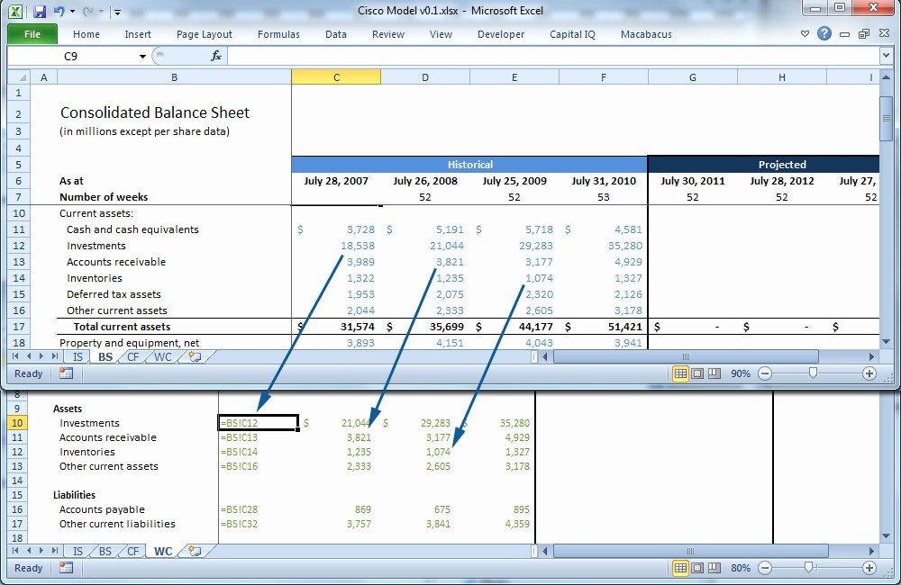 Working Capital On Balance Sheet Awesome forecasting Working Capital