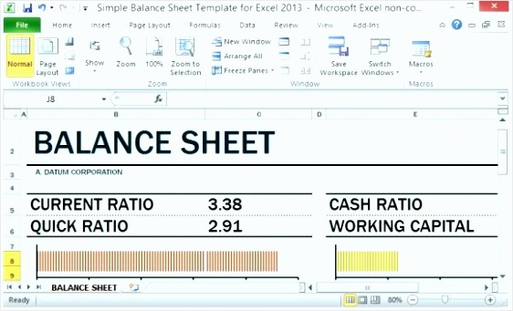 Working Capital On Balance Sheet Beautiful 8 Balance Sheet Template In Excel Tipstemplatess