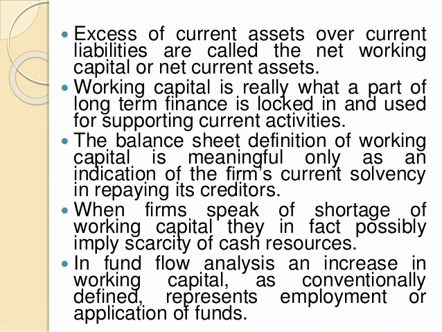 Working Capital On Balance Sheet Best Of Working Capital Management