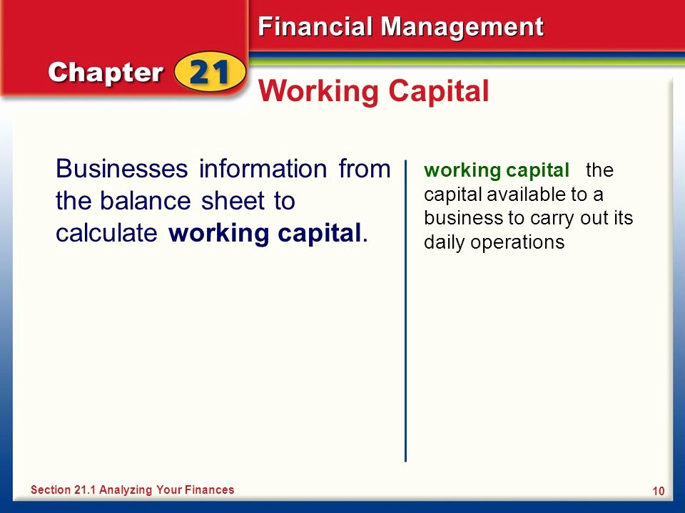 Working Capital On Balance Sheet Fresh Analyzing Your Finances Ppt Video Online