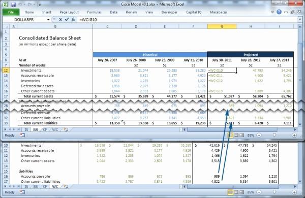 Working Capital On Balance Sheet Fresh forecasting Working Capital