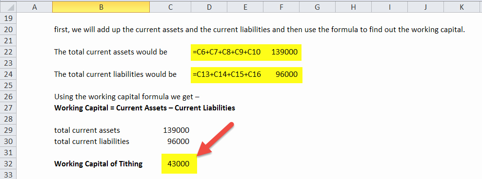 Working Capital Requirement Calculation Excel Beautiful Working Capital formula