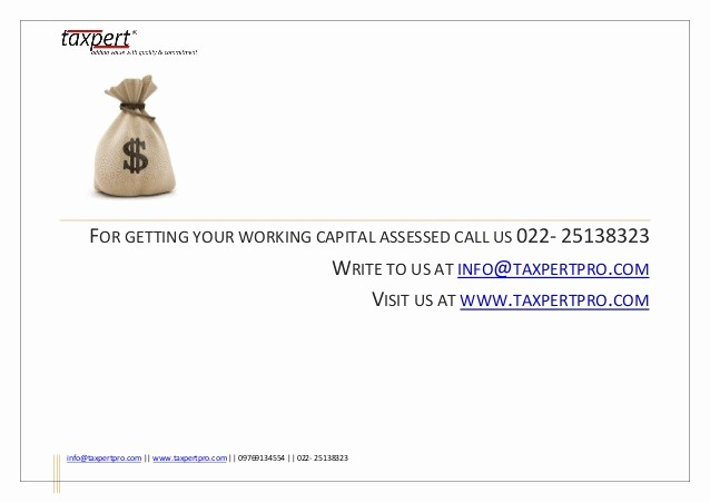 Working Capital Requirement Calculation Excel Beautiful Working Capital