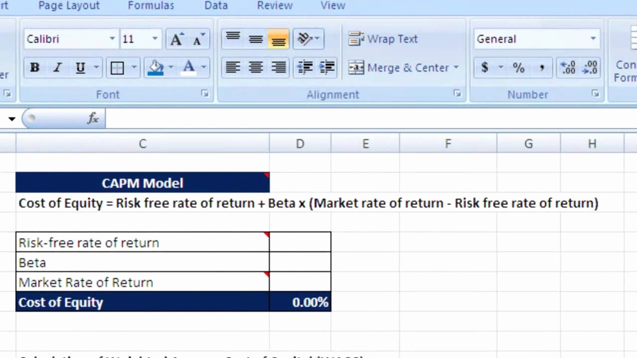 Working Capital Requirement Calculation Excel Best Of How to Calculate Wacc Cost Equity and Debt