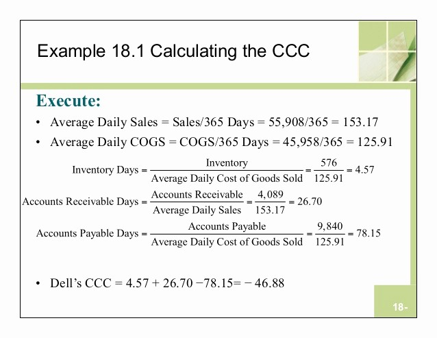 Working Capital Requirement Calculation Excel Unique What is the formula for Calculating Working Capital In