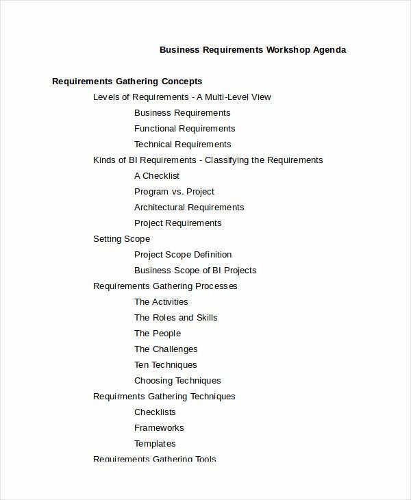 Workshop Agenda Template Microsoft Word Best Of Workshop Agenda Template 6 Free Word Pdf Documents