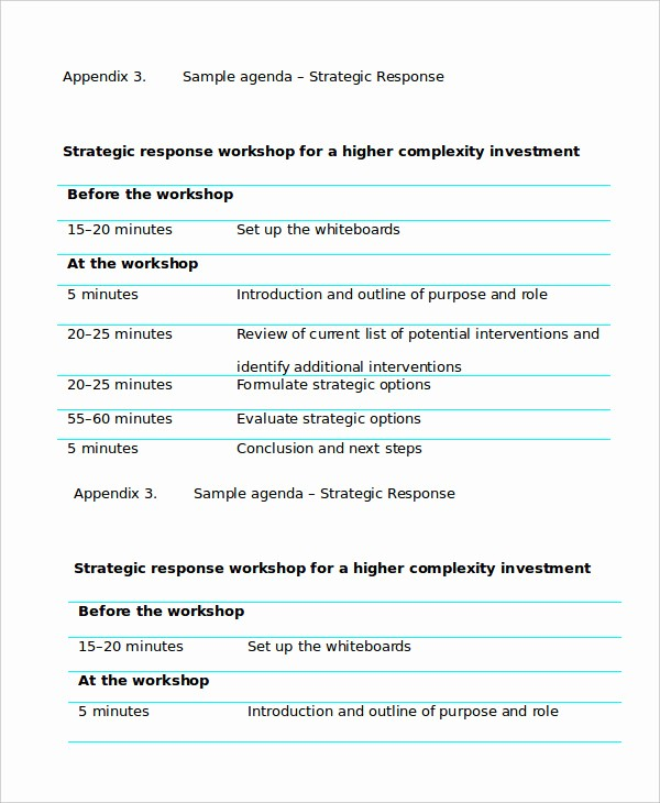 Workshop Agenda Template Microsoft Word Fresh Workshop Agenda Template 6 Free Word Pdf Documents