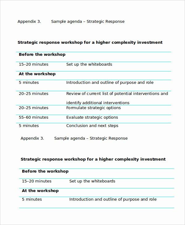 Workshop Agenda Template Microsoft Word Fresh Workshop Agenda Template 6 Free Word Pdf Documents