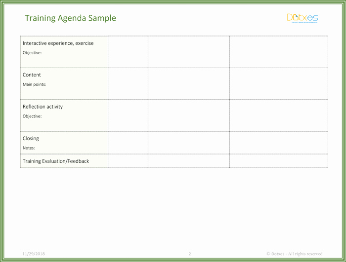 Workshop Agenda Template Microsoft Word Luxury Free Training Agenda Template for Word Effective Agendas