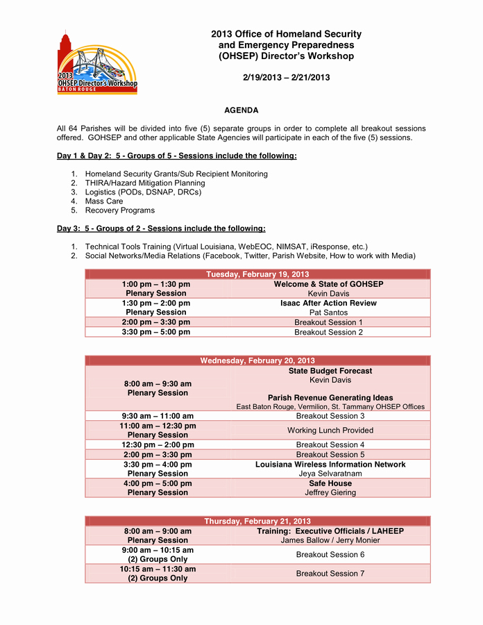 Workshop Agenda Template Microsoft Word New Conference Agenda Template In Word and Pdf formats