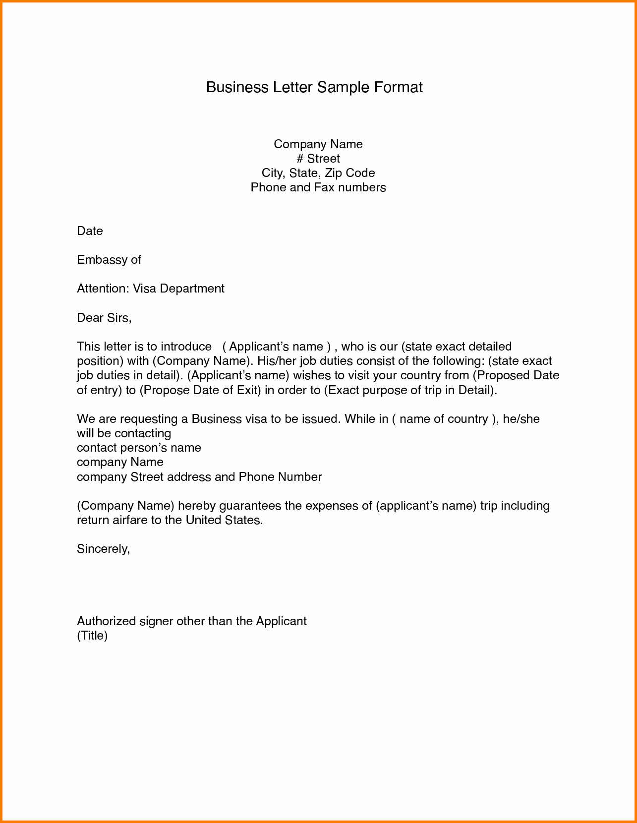 Writing A formal Business Letter Elegant 7 formal Business Letters Examples