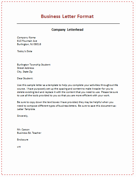 Writing A formal Business Letter Elegant Business Letter format
