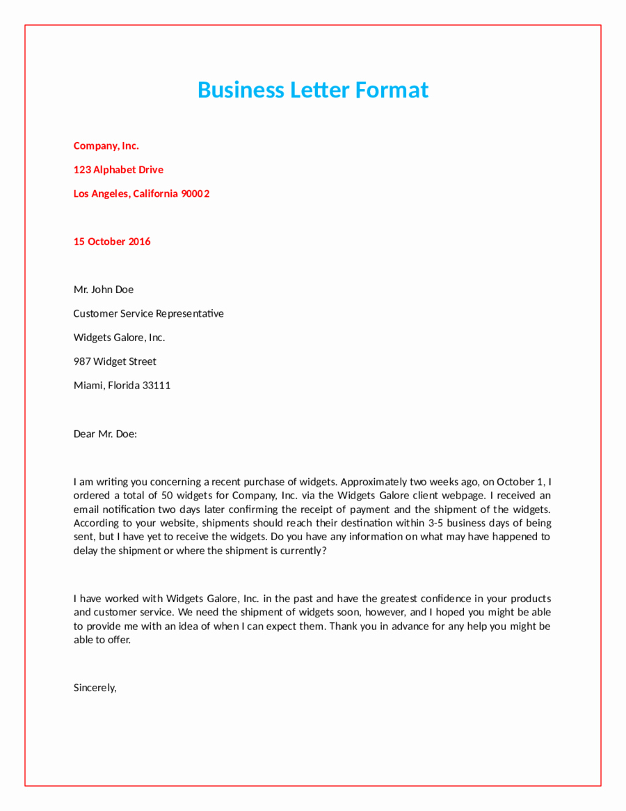Writing A formal Business Letter Elegant Ficial Letter format How to Write An Ficial Letter
