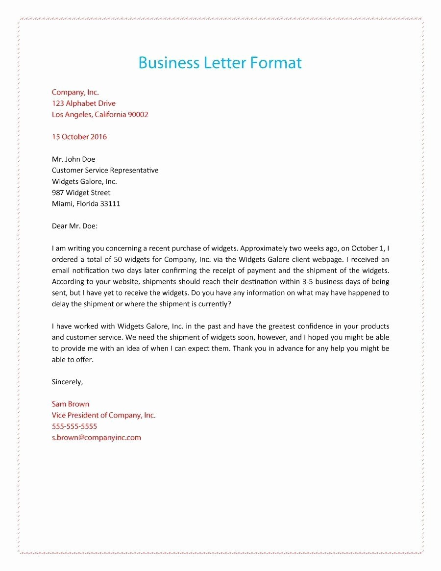Writing A formal Business Letter Fresh formal Business Letter 01 Business Letter
