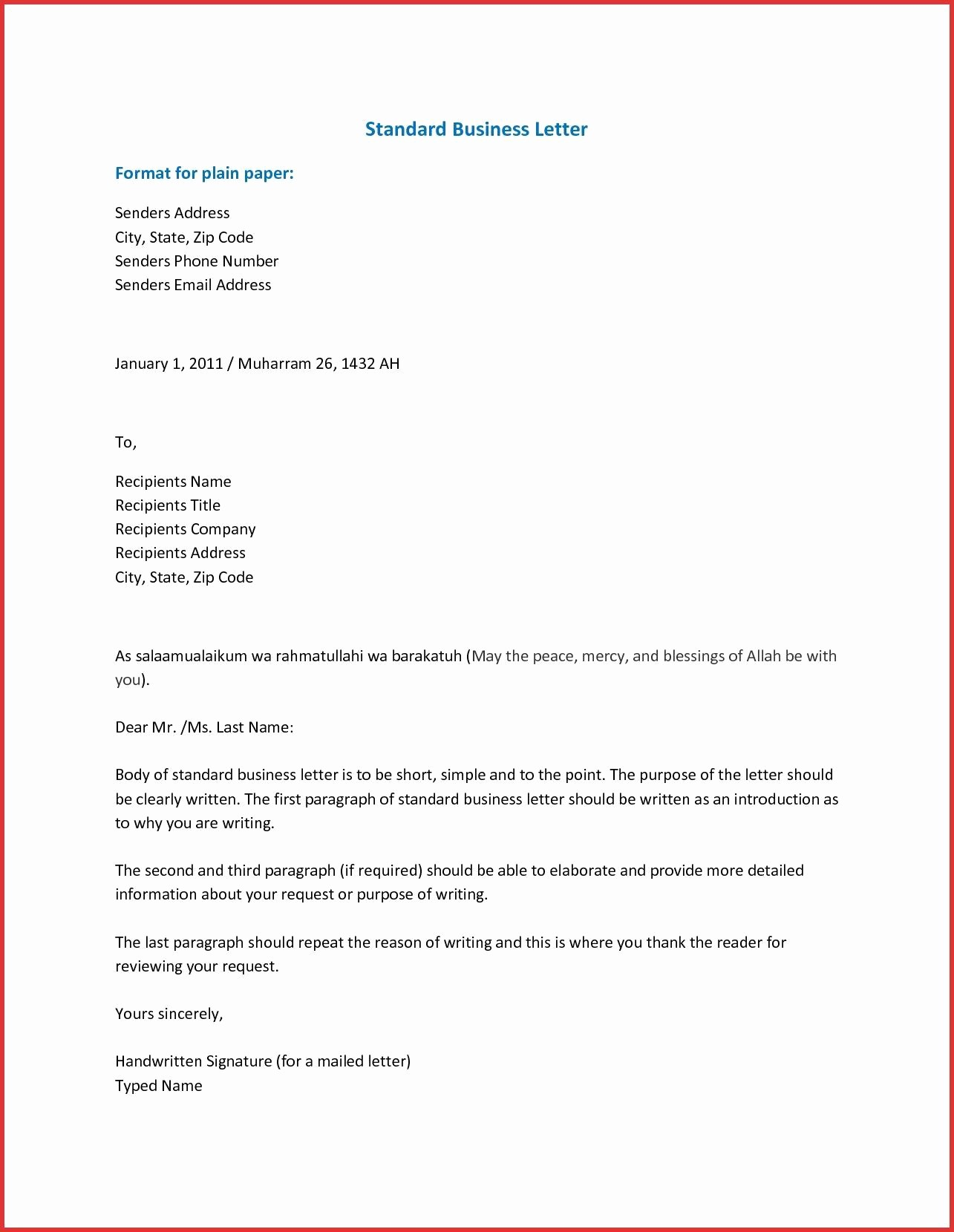 Writing A formal Business Letter Inspirational Pin by Template On Template
