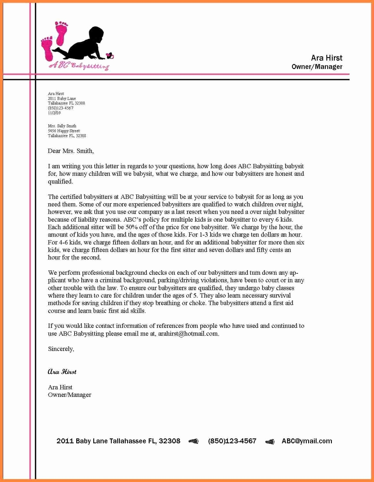 Writing A formal Business Letter Lovely formal Letter format with Letterhead 2018