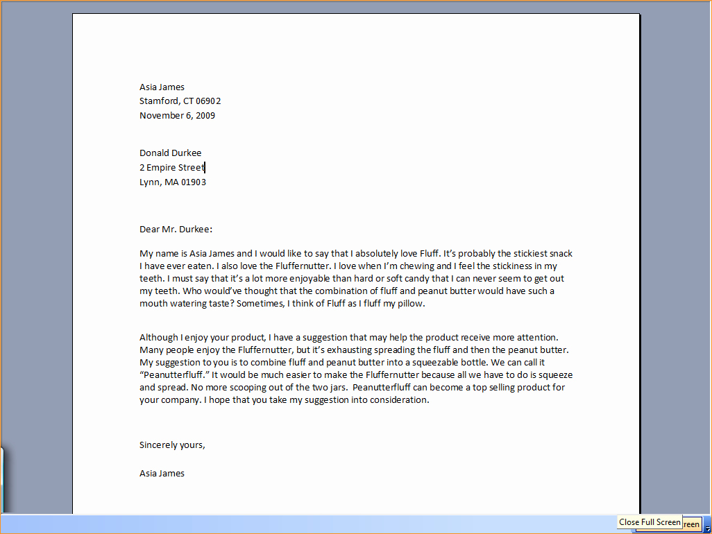 Writing A formal Business Letter Unique A formal Letter to A Pany Business Proposal Templated