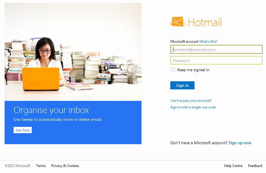 Www Hotmail Com Login Page Luxury Outlook