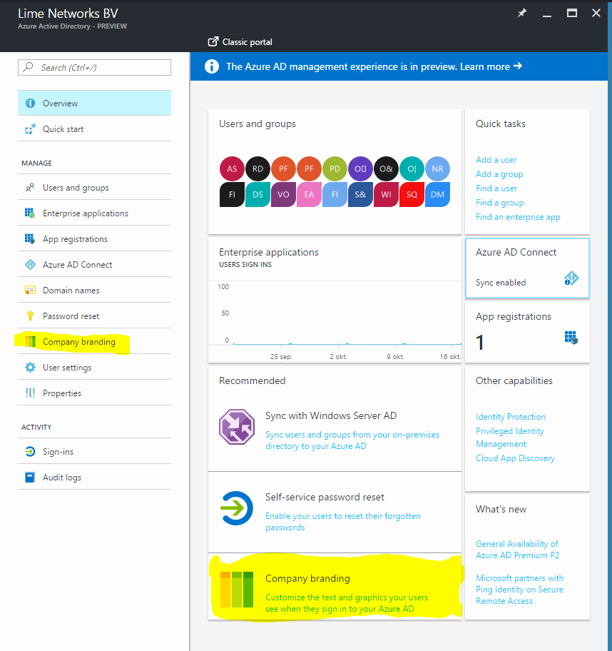 Www.https://portal.office.com New How to Brand Your Fice 365 Portal Azure Portal