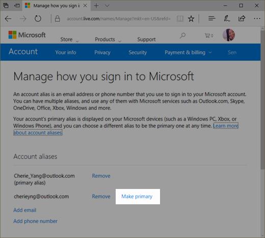 Www.login.microsoftonline.com Http //www.login.microsoftonline.com New Manage Aliases On Your Microsoft Account