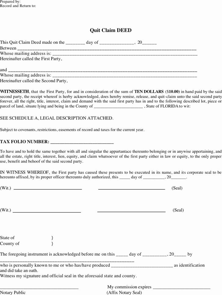 Www Pratcpasettlement Com Claim form Elegant Free Florida Quitclaim Deed form Pdf 3007kb