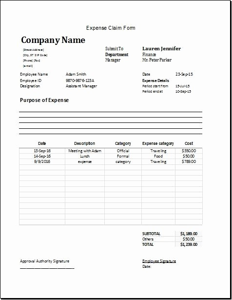 Www Pratcpasettlement Com Claim form Lovely Expense Claim form Download at Worksheets