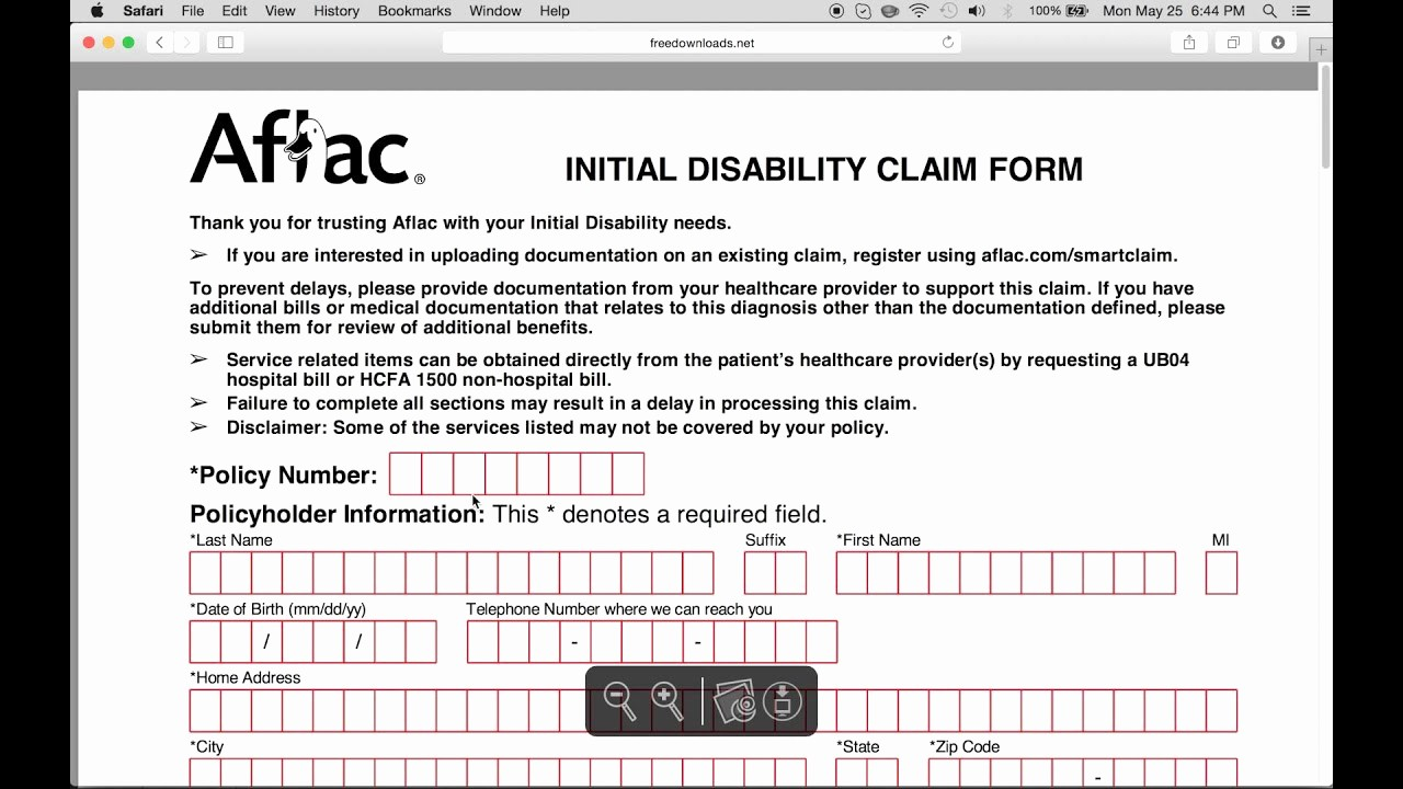 Www Pratcpasettlement Com Claim form Lovely How to Fill In Aflac Claim form
