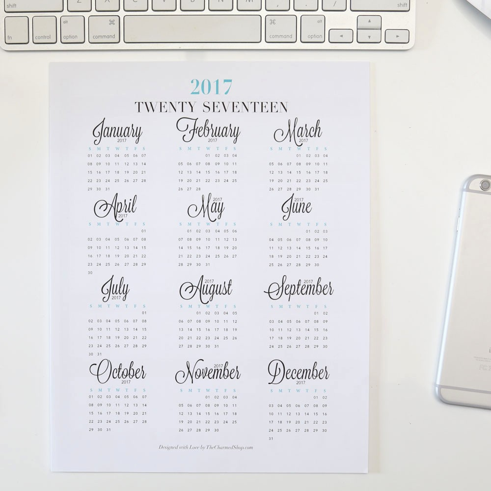 Year at A Glance Printable Beautiful 2018 Year at A Glance Calendar Printable Letter A4 A5