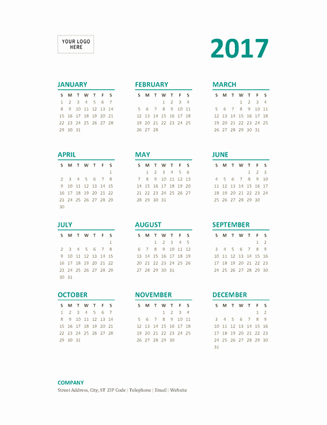 Year at A Glance Printable Inspirational 16 Of Calendar Template 2014 Year at A Glance
