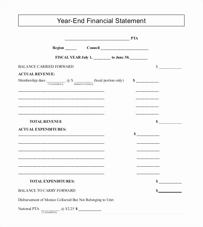 Year End Financial Statement Template Awesome 14 Financial Report format