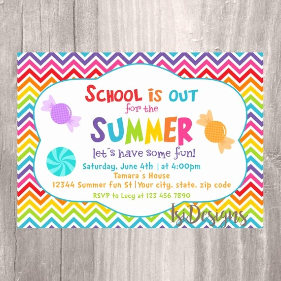 Year End Party Invitation Templates Awesome End Of the Year Party Invitation Summer Party School S