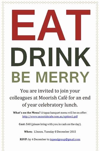 Year End Party Invitation Templates Best Of Alia topend End Of Year Lunch