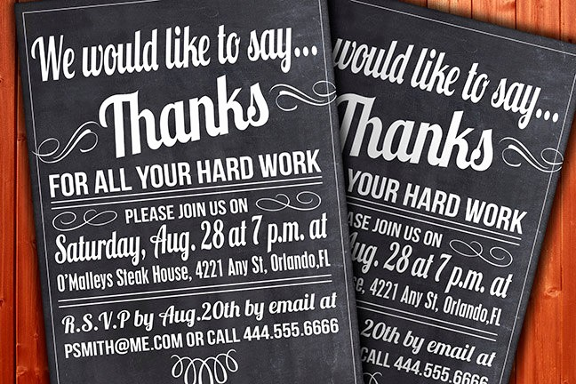 Year End Party Invitation Templates Best Of Custom Thank You Invitation Business Function or Party