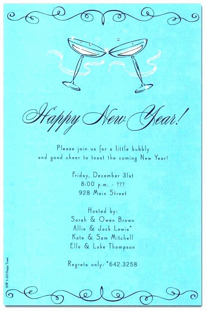 Year End Party Invitation Templates Fresh New Years Eve Invitation Template Year Party Wording for