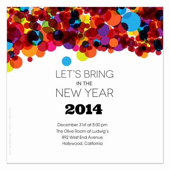 Year End Party Invitation Templates Inspirational Let S Bring In the New Year Invitations & Cards On Pingg