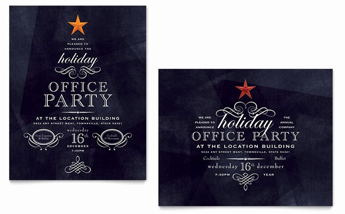 Year End Party Invitation Templates Luxury Fice Holiday Party Poster Template Design