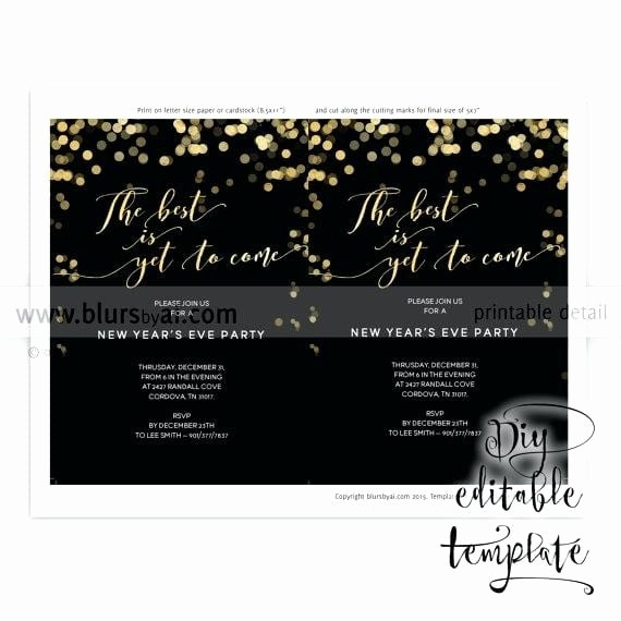 Year End Party Invitation Templates Luxury Year End Party Invitation Template